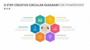 6 Step Creative Circular Diagram For PowerPoint
