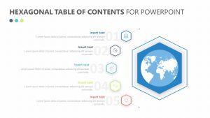 Hexagonal Table of Contents for PowerPoint