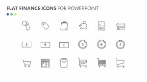 Flat Finance Icons for PowerPoint
