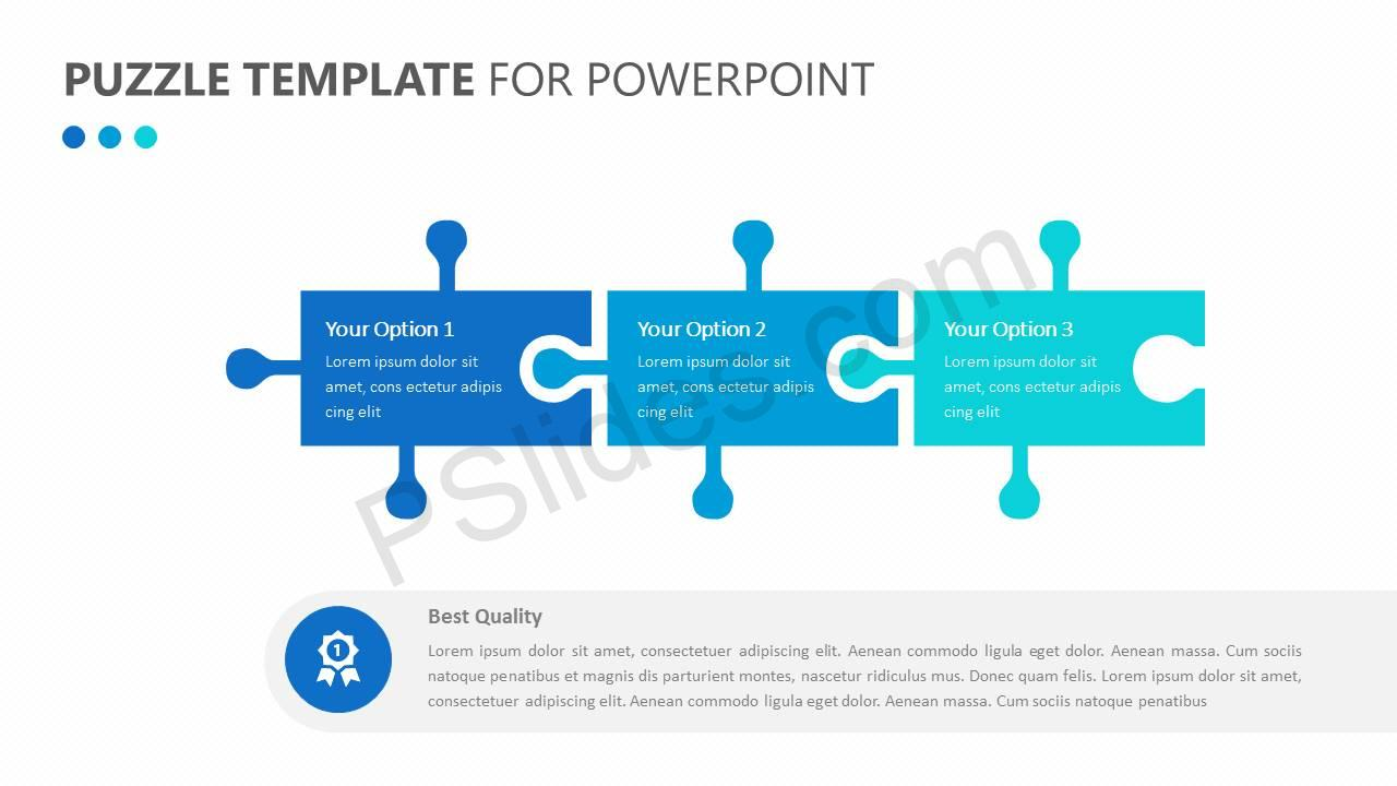 Free free business puzzle list diagram pslides puzzle template for powerpoint ccuart Image collections
