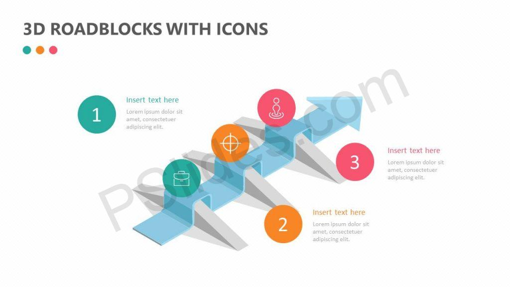 3D Roadblocks with Icons