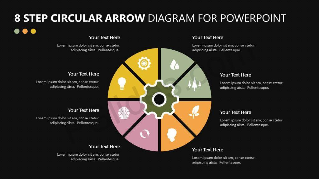 8 Step Circular Arrow Diagram for PowerPoint