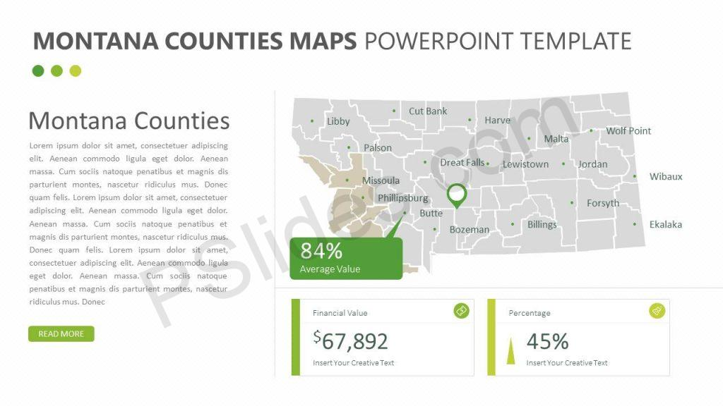 Montana Counties PowerPoint Map
