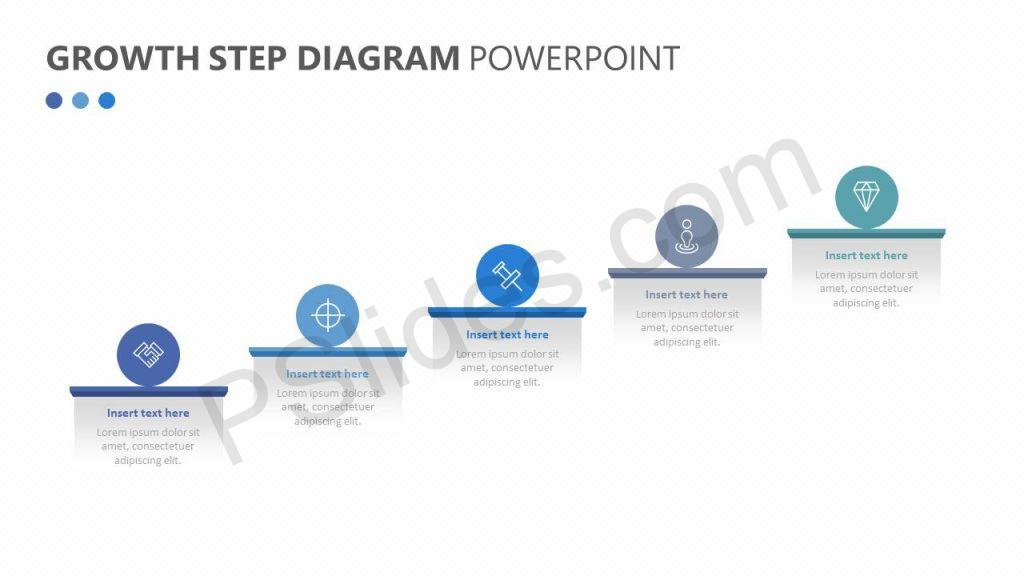 Free Growth Step Diagram for PowerPoint