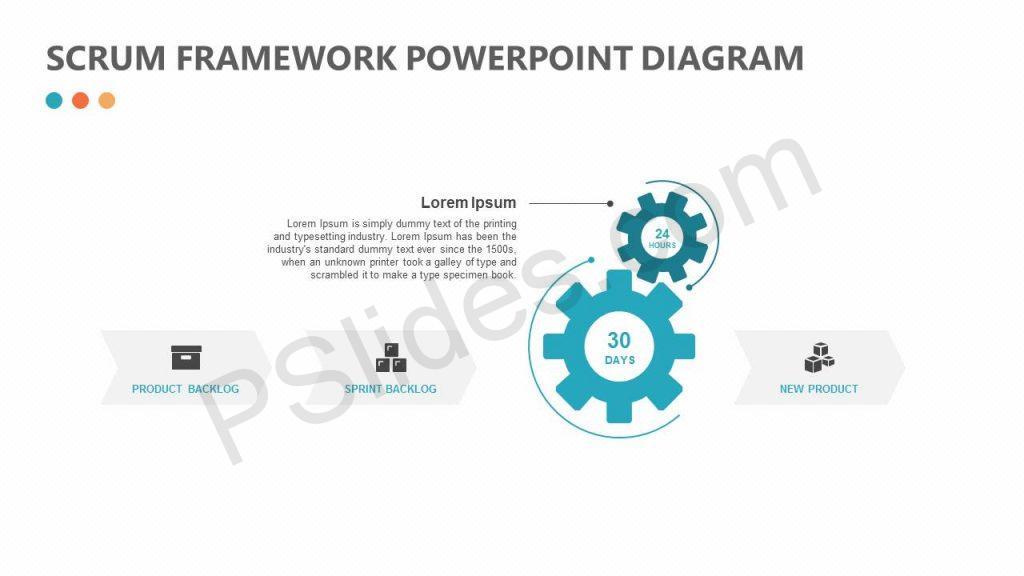 Scrum Framework PowerPoint Diagram Slide 1
