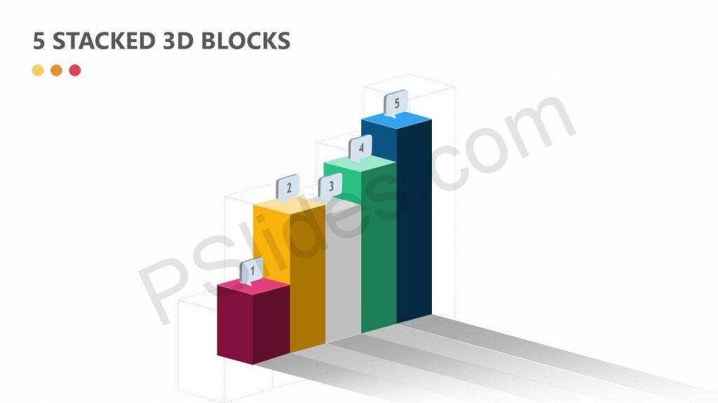 5 Stacked 3D Blocks