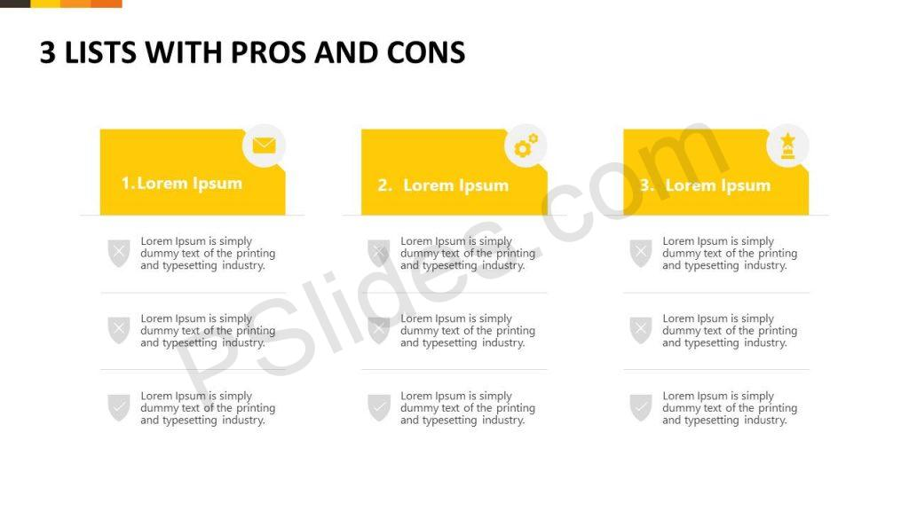 3 Lists With Pros and Cons