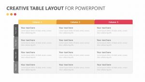 Creative Table Layout for PowerPoint