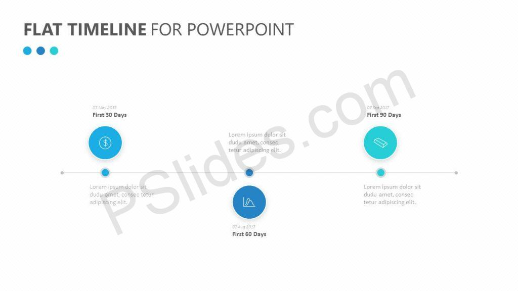 Free Flat Timeline for PowerPoint