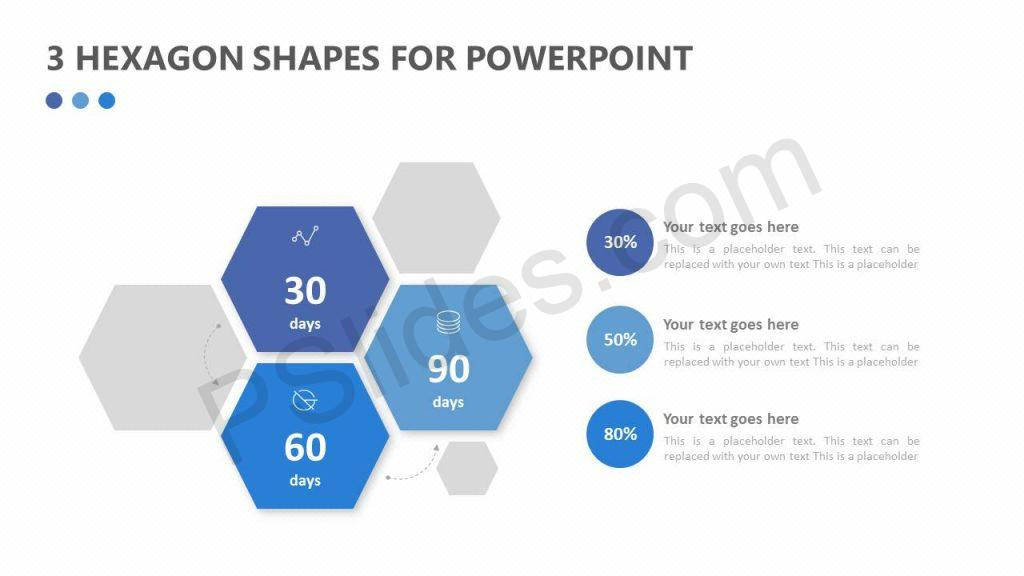 3 Hexagon Shapes for PowerPoint
