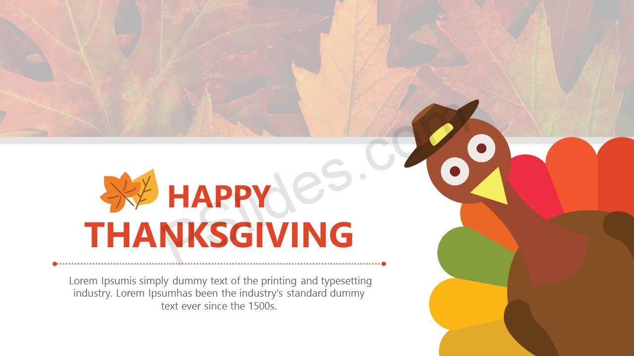 free thanksgiving powerpoint template - pslides, Modern powerpoint