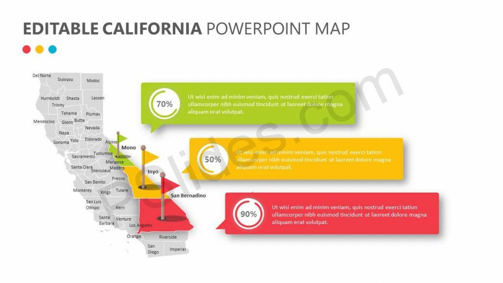 Editable California PowerPoint Map