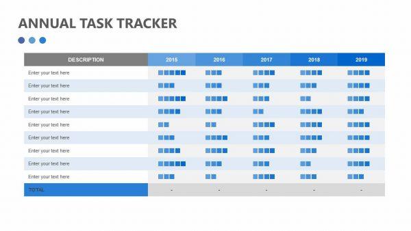Free Annual Task Tracker