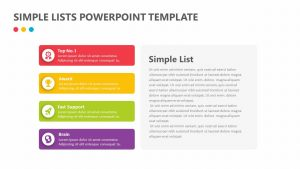 Simple Lists PowerPoint Template