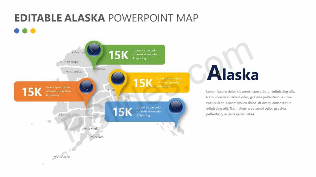 Editable Alaska PowerPoint Map