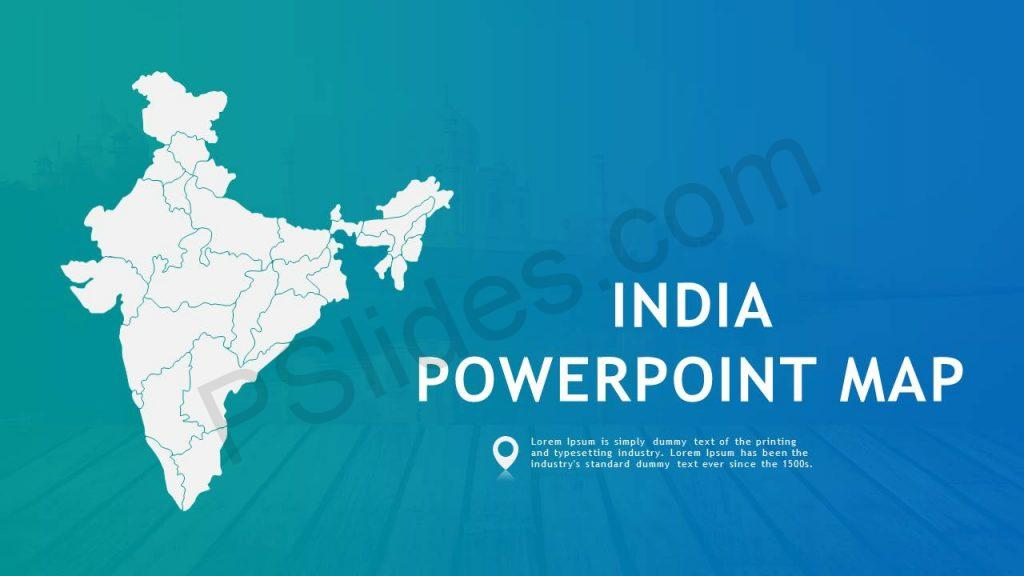 India PowerPoint Map