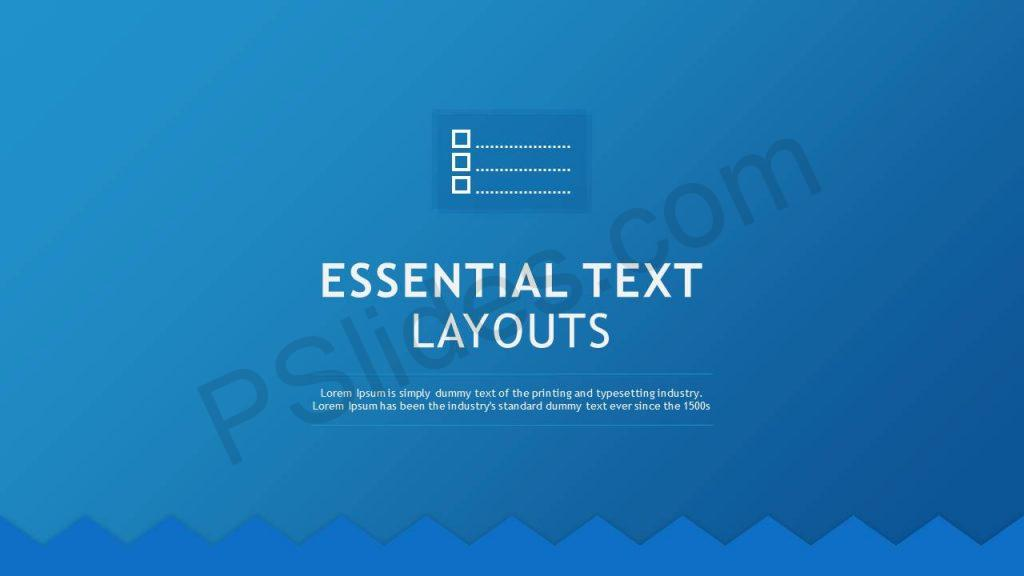 Essential Text Layouts