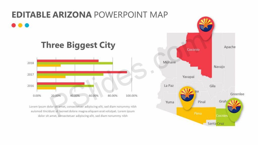 Editable Arizona PowerPoint Map