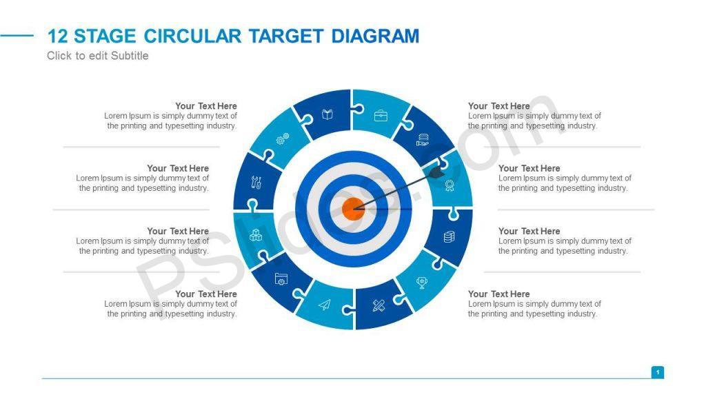 12 Stage Circular Target Diagram Slide1