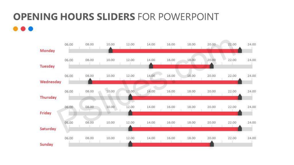 Opening Hours Sliders for PowerPoint Slide2