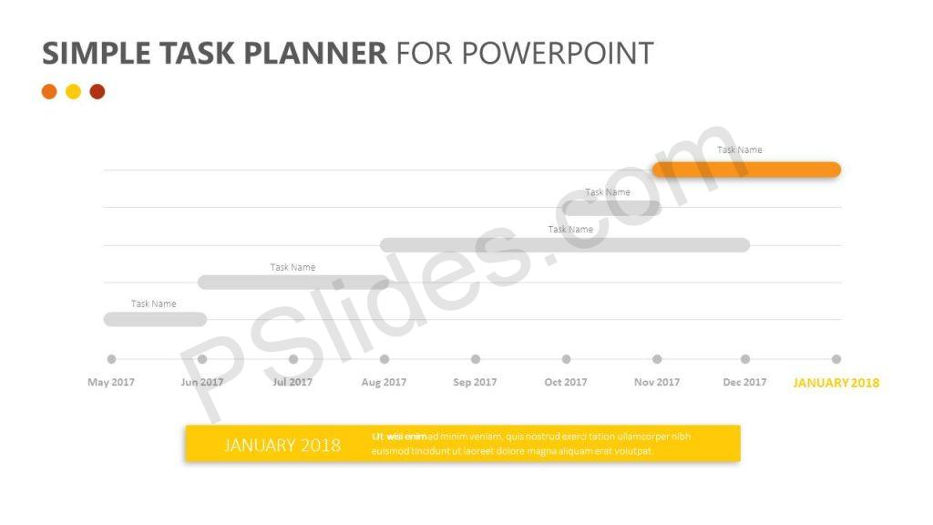 Free Simple Task Planner for PowerPoint