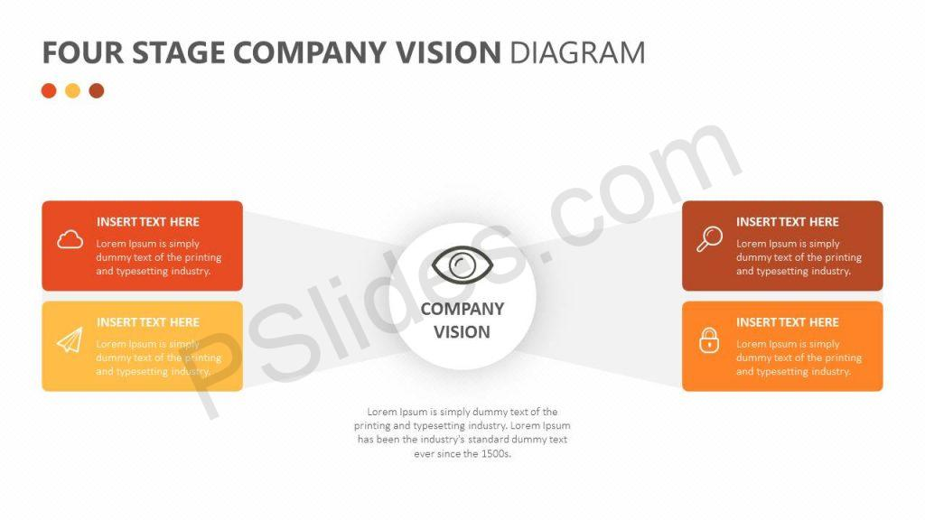 Four Stage Company Vision Diagram Slide1