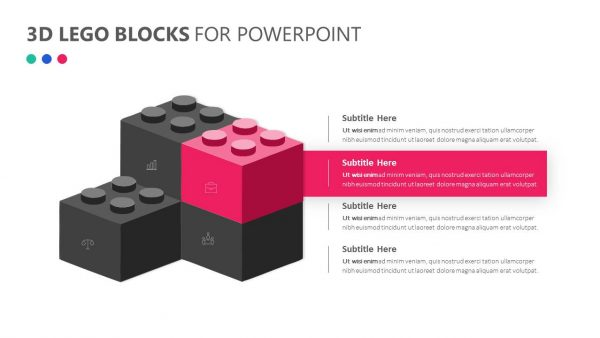 3D Lego Blocks for PowerPoint