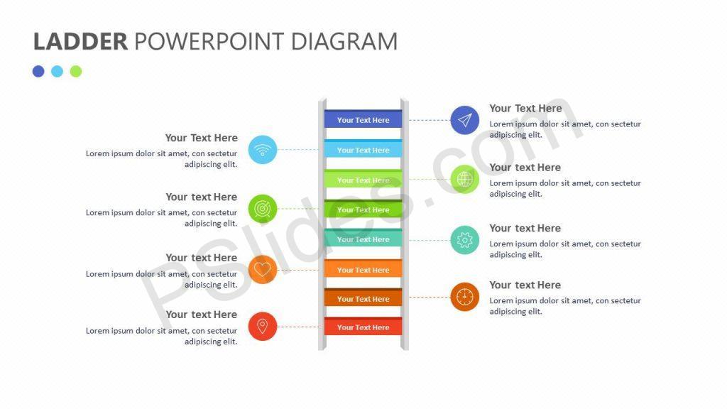 Ladder PowerPoint Diagram Slide1