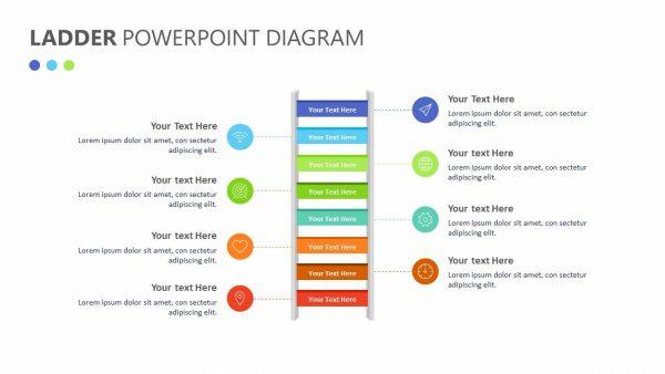 Ladder PowerPoint Diagram