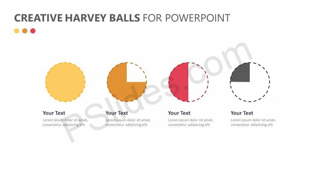 Creative Harvey Balls for PowerPoint Slide 1
