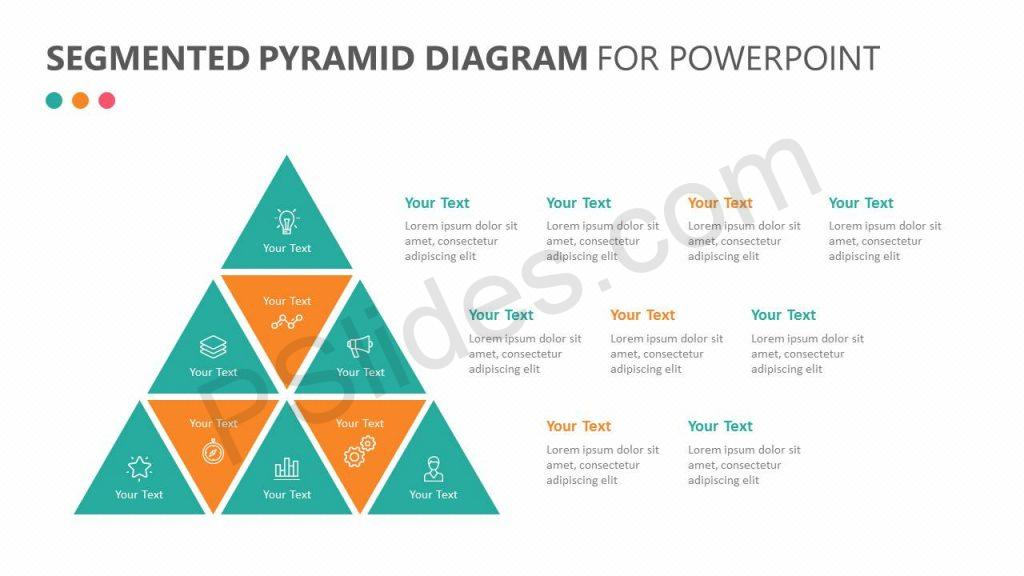 Segmented Pyramid Diagram for PowerPoint Slide 1
