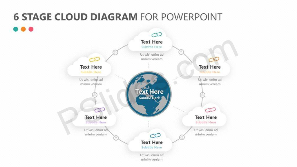 6 Stage Cloud Diagram for PowerPoint Slide1