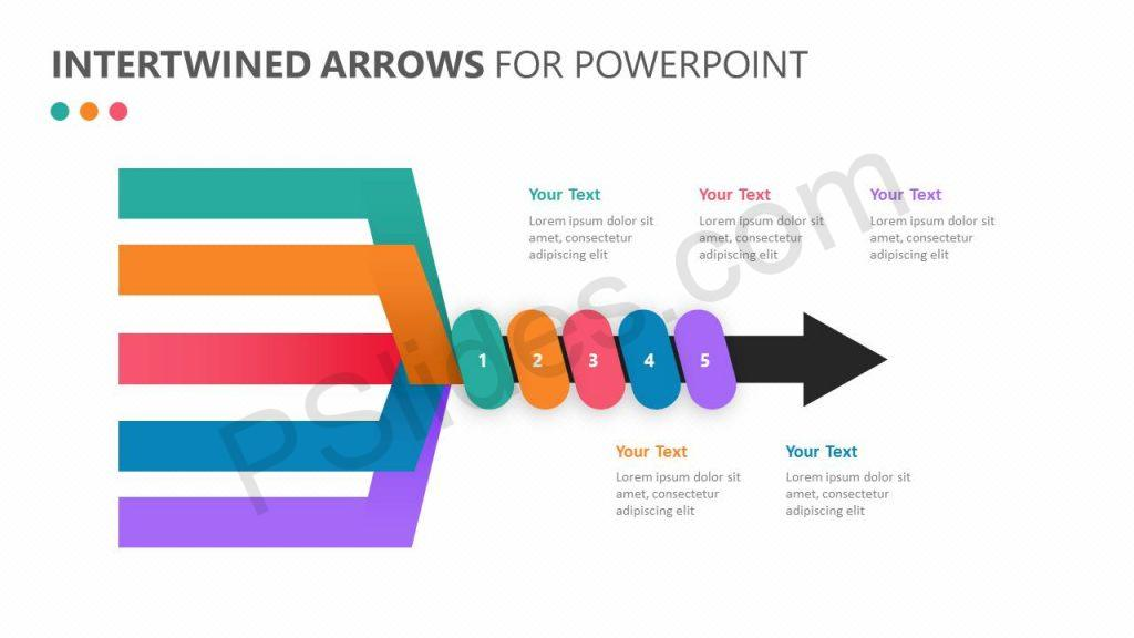Intertwined Arrows for PowerPoint Slide1