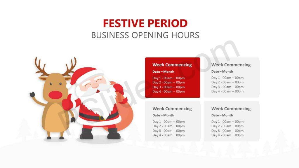 Festive Period Opening Hours Slide1