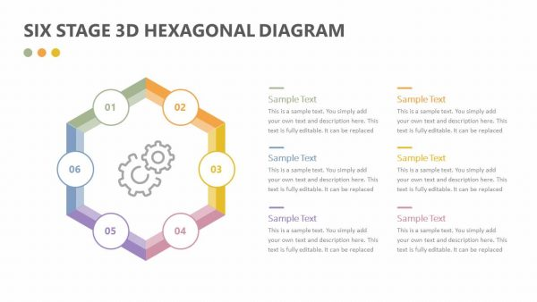 Six Stage 3D Hexagonal Diagram