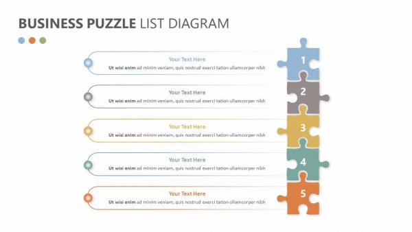 Business Puzzle List Diagram
