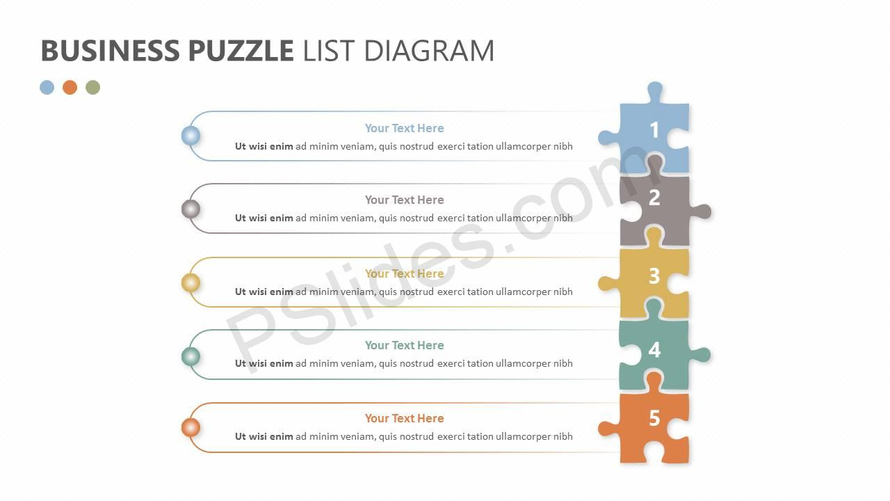 Free free business puzzle list diagram pslides business puzzle list diagram slide1 ccuart Image collections