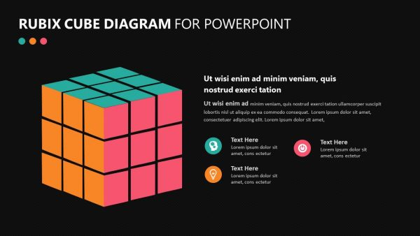 Rubix Cube PowerPoint Diagram