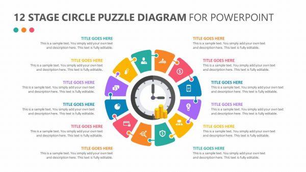 12 Stage Circle Puzzle Diagram