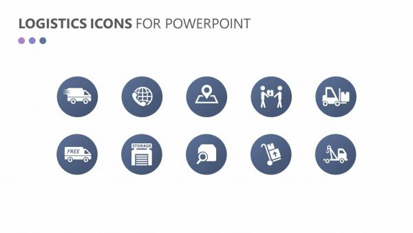 Logistics and Transportation PowerPoint Icons