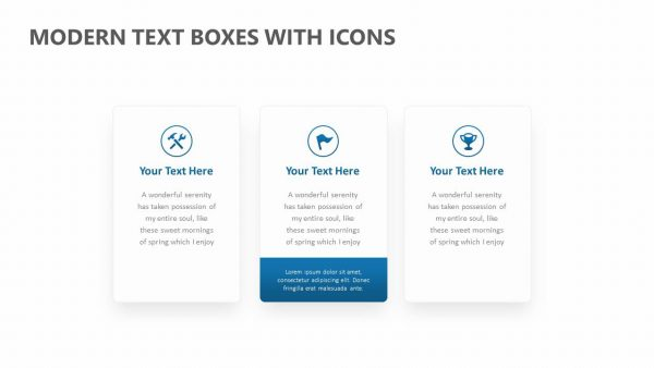Modern Text Boxes with Icons