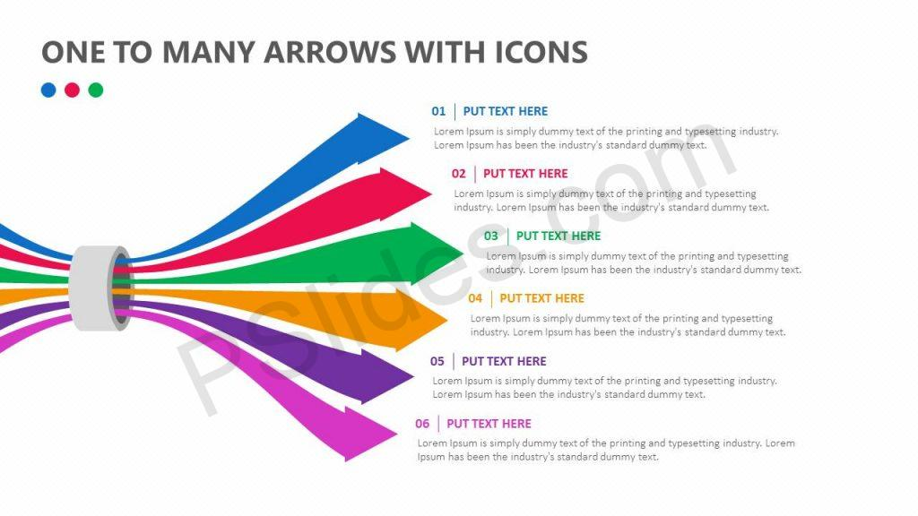 One To Many Arrows With Icons