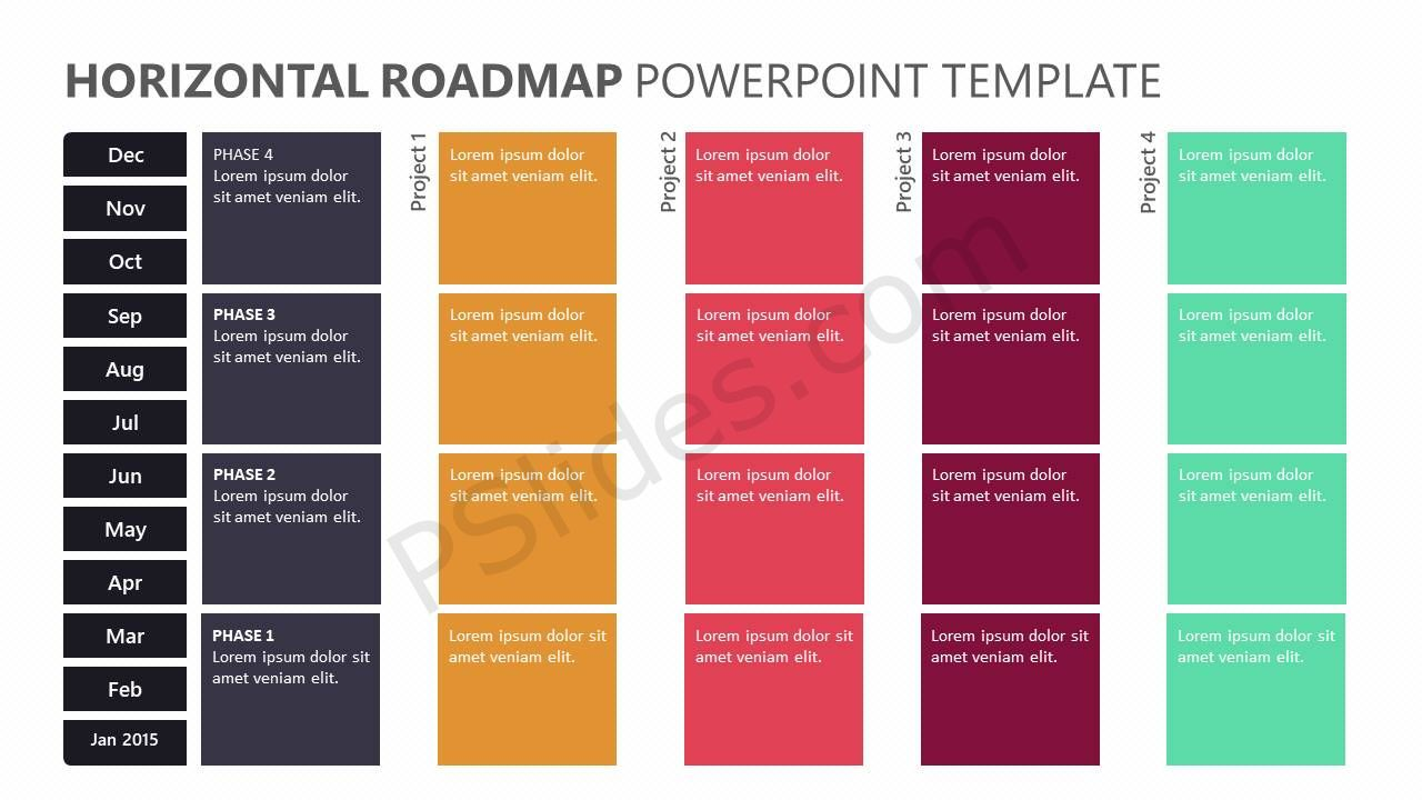 Horizontal roadmap powerpoint template pslides horizontal roadmap powerpoint template toneelgroepblik Choice Image