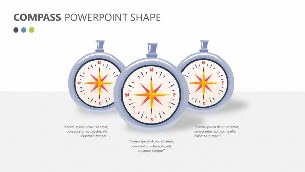 Compass PowerPoint Shape