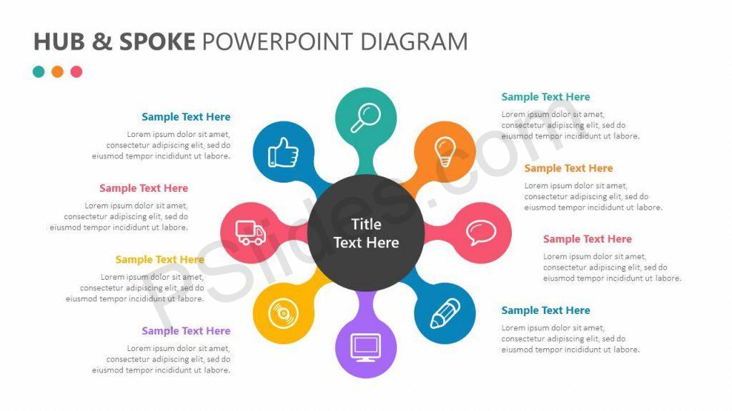 Hub and Spoke PowerPoint Diagram