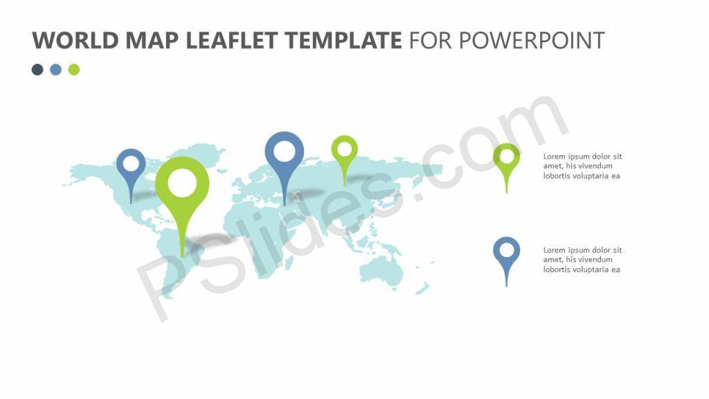 World Map Leaflet Template for PowerPoint