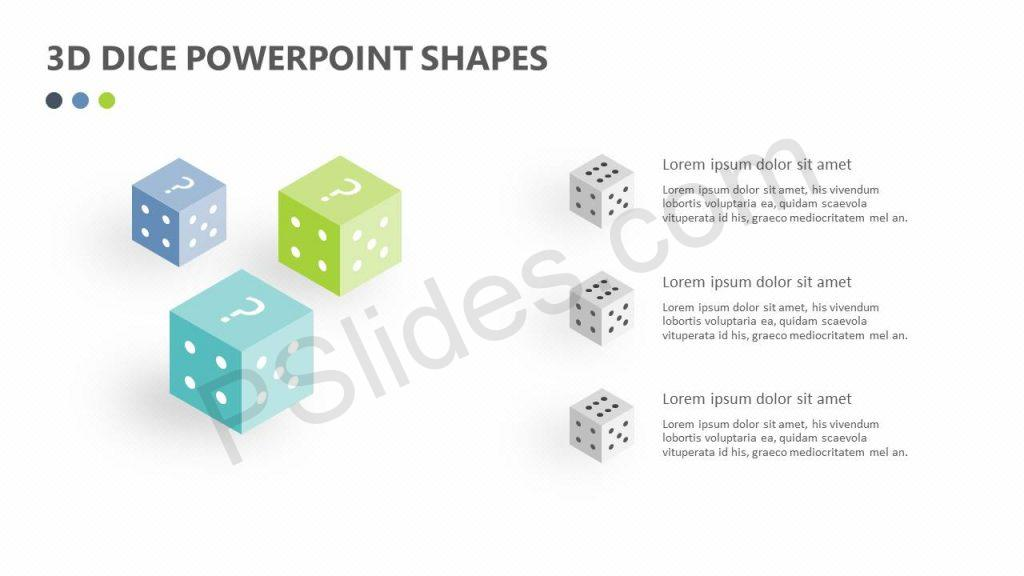 3D Dice PowerPoint Shapes