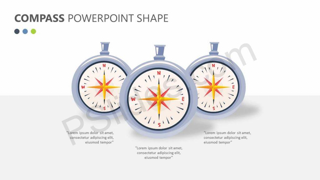 Compass PowerPoint Shape