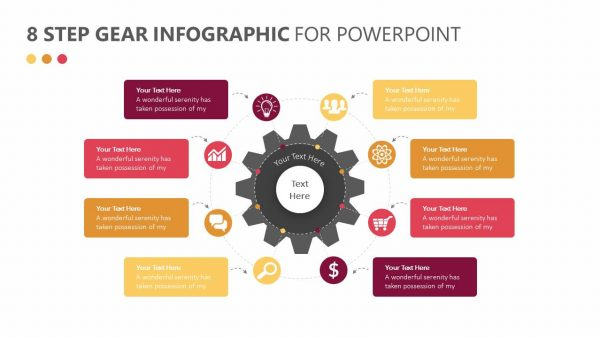 8 Step Gear Infographic for PowerPoint