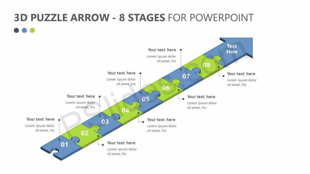 3D Puzzle Arrow - 8 Stages